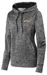 Ladies PosiCharge Electric Heather Fleece Hooded Pullover