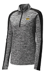 Ladies PosiCharge Electric Heather Colorblock 1/4-Zip Pullover