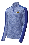 Men's PosiCharge Electric Heather Colorblock 1/4-Zip Pullover