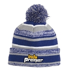 Royal/Grey/White Sideline Beanie