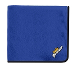 Fleece & Poly Travel Blanket, Royal/Black